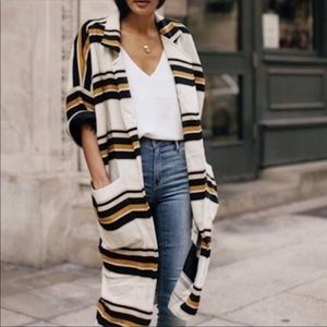 Anthropologie The Odell's Striped Cacoon Jacket